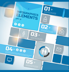geometric business infographics vector image vector image