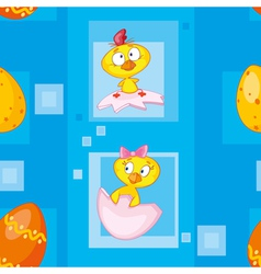 seamless easter eggs blue vector image vector image
