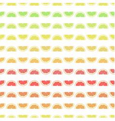seamless pattern grapefruit lemon lime orange vector image