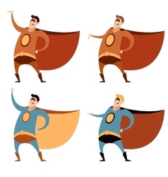 Set of superheroes vector image