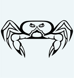 Silhouette crab vector