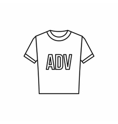T-shirt with ADV inscription icon outline style vector image