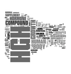 What is hgh text word cloud concept vector
