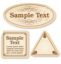 antique labels vector image vector image