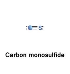 Carbon monosulfide molecule vector