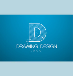 logo template letter d in the style of a vector image
