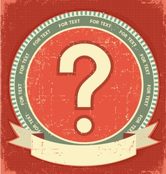 question mark label vector image vector image