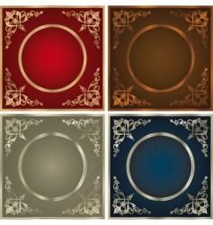 vintage backgrounds set vector image vector image