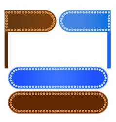 A Set of Labels and Signboards vector image