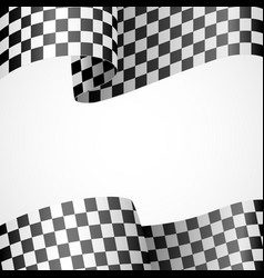 decoration of racing flag on white vector image