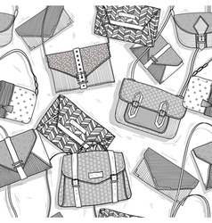 Fashion bags seamless pattern for girls vector