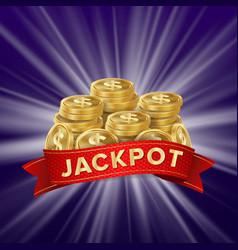Jackpot background golden casino treasure vector