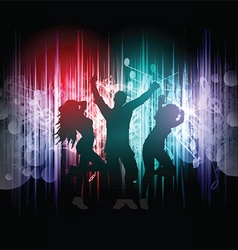 party people on music notes background 2403 vector image vector image