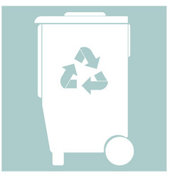 refuse bin with arrows utilization the white vector image
