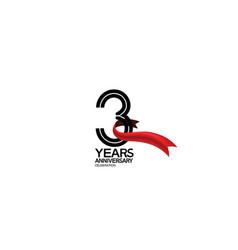 3 years anniversary logotype flat black color vector