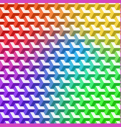 3d pattern with rainbow hexagons ornament vector image