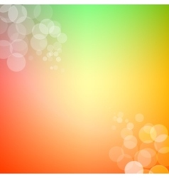 Abstract bokeh sparkles on spring themed blurred vector