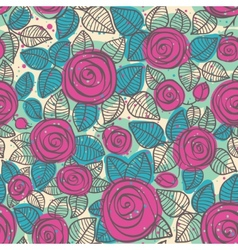 Abstract seamless pattern roses vector