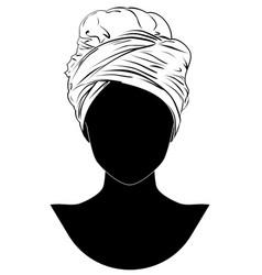 African style turban vector