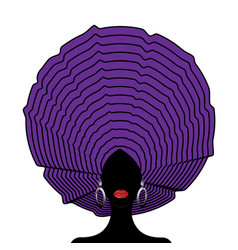 African wedding head wraps afro beauty portrait vector