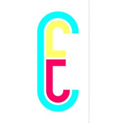 alphabet in disco style vector image