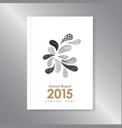annual report cover zentangle hand drawn leaves vector image