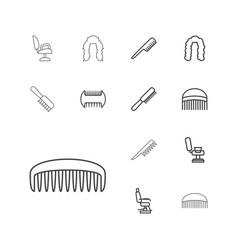 Barbershop icons vector