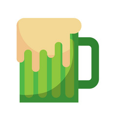 beer mug glass foam alcohol drink vector image