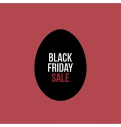 Black Friday Sale Text on Egg Label vector