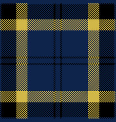 blue black and yellow tartan plaid seamless patter vector image
