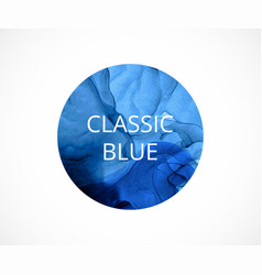 blue circle on white background classic vector image