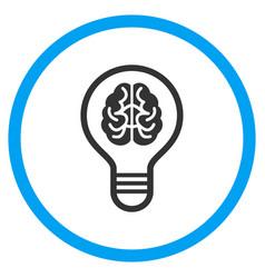 Brain bulb rounded icon vector
