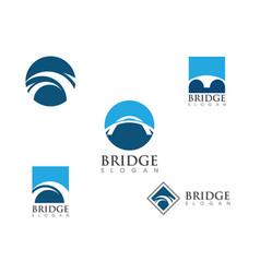Bridge icon logo vector
