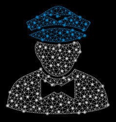 Bright mesh carcass airline steward with flare vector