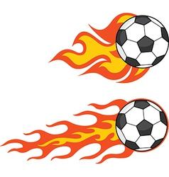 Cartoon soccerball vector