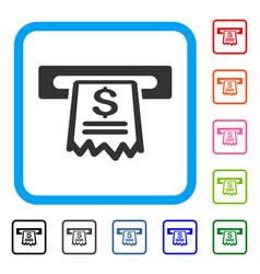 cashier receipt framed icon vector image