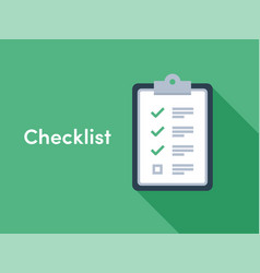 checklist brief survey icon vector image