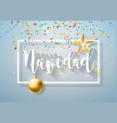 christmas with spanish feliz navidad vector image