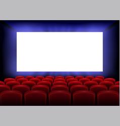 cinema movie premiere poster design with empty vector image
