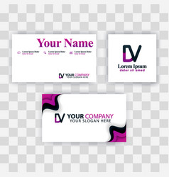 Clean business card template concept purple vector