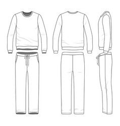 Clothing set of sweat suit vector