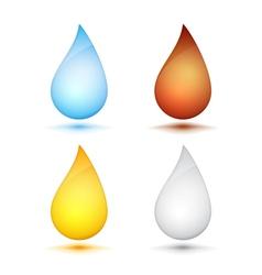 Colored Drops vector