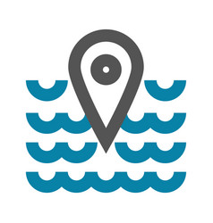 concept of sea place geo mark vector image