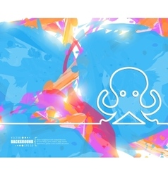 Creative octopus Art template vector