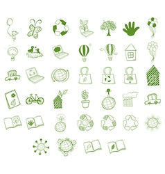 Different eco-friendly objects vector image