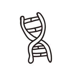 Dna icon Sketch and science design vector