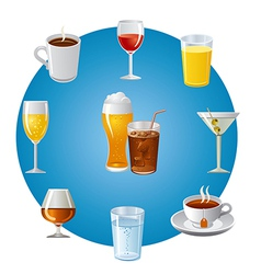 Drinks icon set vector