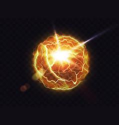 Electric ball lightning fireball energy flash vector