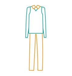 elegant grandfather costume icon vector image