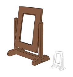 Empty brown photo frame with copy space vector